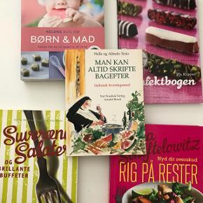 🍝En bunke skønne kogebøger. Alt fra Blomsterberg til Salater, babymad og desserter. Fejler Intet. Prisen er pr. Stk.  🌍Afhentes på Nørrebro  💌 Kan sendes med DAO for 33 kr.