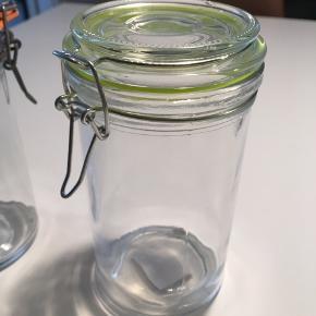 Patentglas. 5 stk. 2 af dem har været brugt en gang. De er fra søstrene grene.