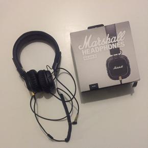 Marshall headphones, Major II. Høretelefoner. Sorte. Kun brugt få gange, da jeg ikke får dem brugt.Kan foldes sammen så de næsten ingenting fylder.