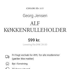 Georg Jensen Alfredo Køkkenrulleholder. Skal hentes i Kastrup. Fejler intet. Sender gerne billeder af min egen