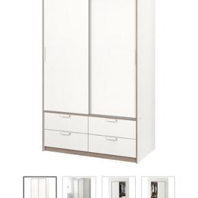 Garderobeskab fra IKEA sælges pga. Flytning. Skabet er købt for ca 3 år siden, men fejler ingenting!