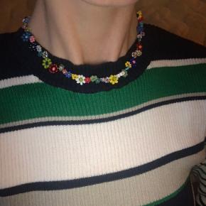 Håndlavet blomster halskæde, lavet af seed beads i forskellige størrelser med sterling sølv lås 💗🦋🌸🌼🧚🐸