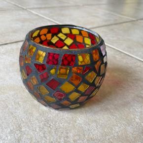 Flot glas mosaik fyrfadsstage. :)