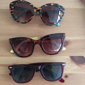 Sælger tre par solbriller. Kan lave mængderabat, eller er enkeltprisen 75kr Per par