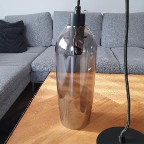 Mørkt nuanceret glas lampe 👌  Helt nye 👌  Sælges samlet for 1100 kr  Frandsen Kyoto slim pendel Electro plated   Normalpris 1399 kr. Pr. Stk.