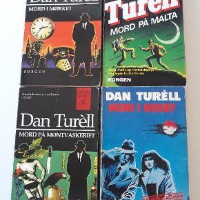 4 gange Dan Turell,  læst en del men kan læses mange flere gange, sælges samlet for 40kr Se også alle mine andre annoncer med krimier og andre bøger.