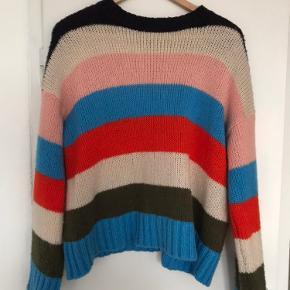 Stribet Strik sweater