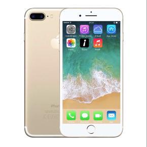 """Sælger min iPhone 7 plus, da jeg gerne vil have en ny telefon.Telefonen fungerer præcis som den skal, skærmen er dog lidt """"mørk"""" i højre side, men det kan jeg få ordnet inden den sælges hvis ønsket. Har ikke en pris, så byd gerne :)"""