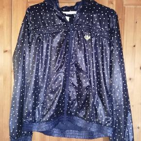 Smart jakke/regnjakke. Neongul logo, hvide prikker