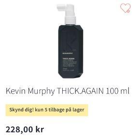 Kevin Murphy Thick again spray til tynd hår for pleje, forbedret hårvækst  og mere volume. Helt ny, aldrig brugt.