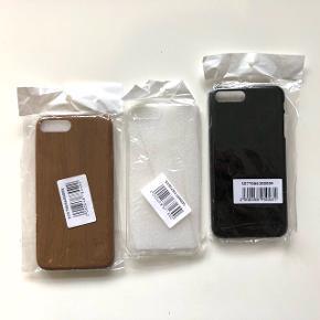 Plastik covers til iPhone 7 Plus / 8 PlusDe er alle sammen hårde - undtagen den transperante, der er blød. De er aldrig brugt!  1 stk - 15 kr 3 stk - 30 kr