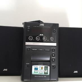 Super god JVC radio/DAB og musikafspiller sælges, da dsv ikke bruges så ofte.   Lyden er rigtig lækker og stadig i rigtig god stand!:)  BYD