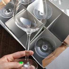 5 rødvins glas