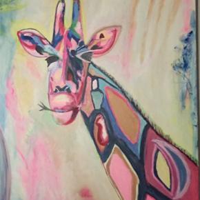 Akryl maleri 80x100 cm.