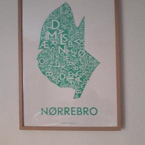 Plakat fra Kortkartellet, måler 50×70 cm og IKEA-ramme følger med.
