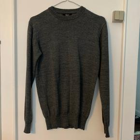 Grå merino uld sweater, byd