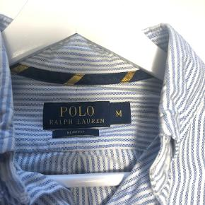 Polo Ralph Lauren - skjorte str. M slim fit - stribet lyseblå og hvid