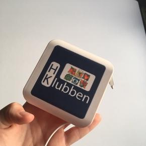 Powerbank med to lader , til Samsung + iPhone indbygget :-)