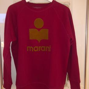 Milly sweatshirt. Varm rød med velour print.  Brugt få gange. Ikke vasket.  Fransk str. 44 (42/large) Længde 70 cm Brystvidde 55 cm