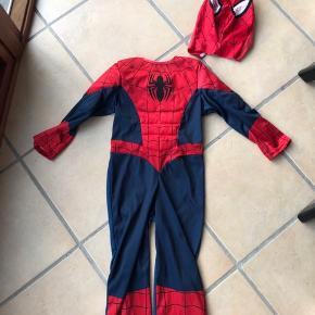 🕸 Spiderman - udklædning str. 5-6 år 🕷  Afh. Vester Nebel