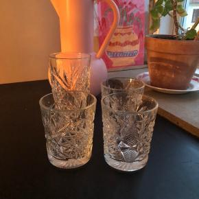 4 whisky glas (1 stort).  Sælges samlet for 130kr ☺️