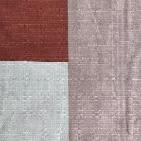 Dug fra H & M Home Str 145x200cm Lækre varme farver: rust/creme/rosa Helt ny, købt i april, kun brugt som sengetæppe, aldrig vasket🌸