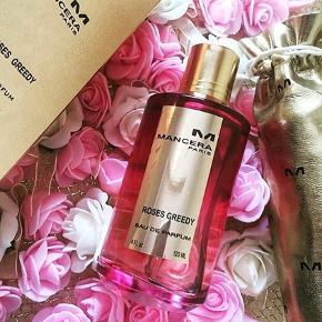 """FANTASTISK duft """"Roses Greedy"""" Fra Mancera. Købspris 1180kr. Dette er min ekstra flaske, elsker denne duft. Helt ny, standen er perfekt."""