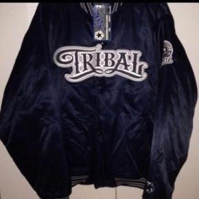 Tribal streetsear jakke, very rare 90s,Size:L  Satin