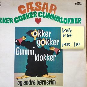 Okker gokker gummiklokker Cæsar børneplade vinyl lp plade til grammofon fin stand