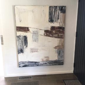 Virkelig fint maleri fra malerifabrikken. Nypris 2799kr. Super pæn stand - sælge udelukkende da vi ikke har plads til det mere.  115 cm x 150 cm.   Det sendes ikke.