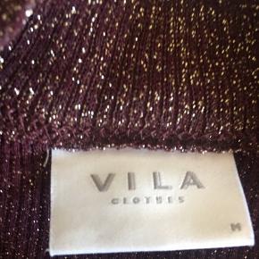 Vila VILEJA - Langærmede T-shirts - fig/gold lurex