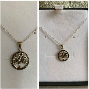 Livets træ halskæde i sølv (stemplet 925) aldrig brugt. 150 kr