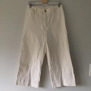 Hvide bukser med wide leg, str. 42/XL