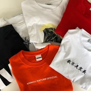 6 stk. t-shirt. Samlet pris incl. forsendelse.