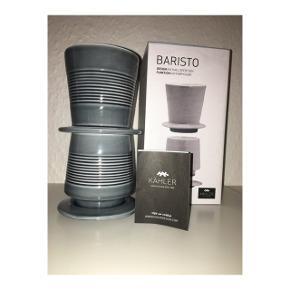Kähler baristo kaffebrygger.   Aldrig brugt, nypris 399kr.   Jeg har to, prisen er pr. stk.