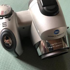 Brand: Konica Minolta Varetype: Digital kamera Størrelse: 4 pixels  Farve: Sort Prisen angivet er inklusiv forsendelse.  12 x optimal zoom. Brugt men ok.