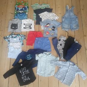 Sælger denne fine sommer tøj pakke til en lille dreng. Alt tøj er i str. 68. Kommer fra røgfrit hjem.