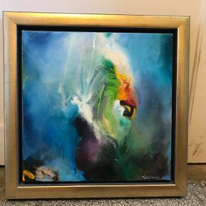 Jeg sælger mit super flotte maleri af Henrik Elnegaard. Det er 49x49 cm.