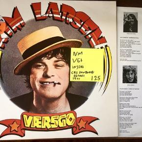 Kim Larsen vinyl lp plade værsgo super stand