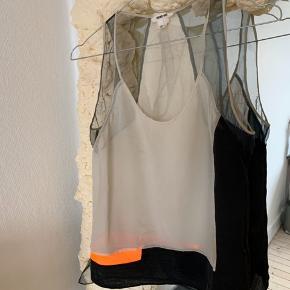 Sælger denne fine Helmut Lang top med forskellige materialer. Har lidt mærker bagpå sælges derfor billigt - er sikker på det kan komme af i vask. Kan afhentes på Nørrebro eller køber betaler fragt.   Se også andre annoncer.
