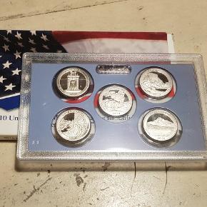 Flot møntsæt 1/4  $ fra USA og og købt i US Fra 2010. Fra gammel møntsamling. Billig