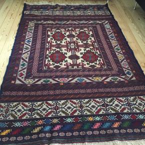 Ægte afghanske hånd lavet tæppe helt nye  Meget flot  aldrig brugt  L 200cm B 120