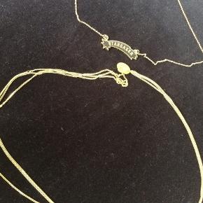Ny halskæde med stjerne.  Har flere slags.   En koster 85, to 150, alle tre 215