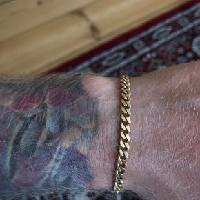 Panser armbånd  19cm  14 karat   Ny pris 4000,-
