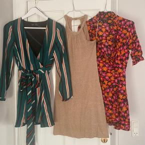 GREEN JUMPSUIT - never used  GLITTER GOLD DRESS - perfect for festivities / new years eve - used about 3 times  FLORAL DRESS - used once