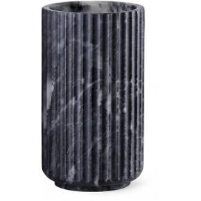 Lyngby jubilæumsvase- mat sort 20 cm. Aldrig brugt  Original emballage