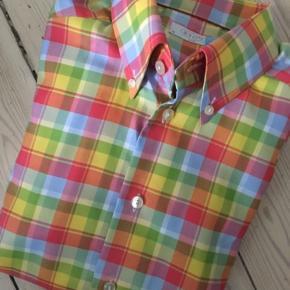 Sender ikke Eton oxford skjorte med button down Slim fit Str 38 Nypris 1400,-