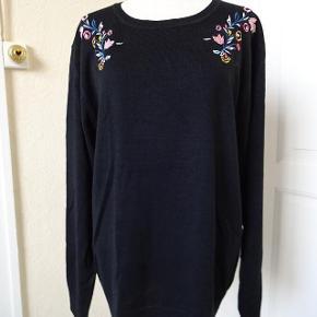 Flot let strik bluse sælges, Bytter ikke Den er er 48/50 men meget lille i str. mere en 46. Brystmål: 56x2 Talje:52x2 Længde:69 Materiale: 100 Acryl- meget let strik