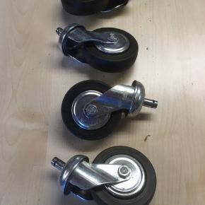 4 stk. Møbel hjul sælges samlet.