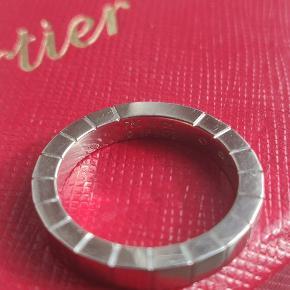 Cartier laniérs ring.  -18K Hvid guld.  -Str 49. -Super stand. ✅100% autentisk/ægte.